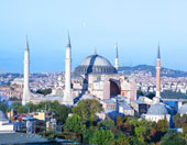 hotel room with view of hagia sophia